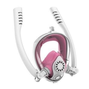 Water sport duikuitrusting volledige droge silicone duiken masker Zwemmen glazen voor GoPro HERO7/6/5/5 sessie/4/3 +/3/2/1  grootte: L/XL (wit roze)