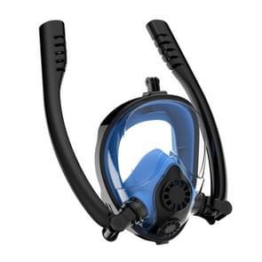 Watersport duikuitrusting full dry siliconen duikmasker zwembril voor GoPro HERO7 /6 / 5 /5 Sessie /4 /3+ /3 /2 /1  Grootte:L/XL(Zwart Blauw)