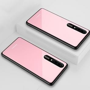 Lycra Series Eye Protection TPU Acrylic Protection Case for Huawei P30(Pink)