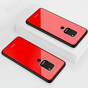 Lycra Series Eye Protection TPU Acrylic Protection Case for Huawei Mate 20(Red)