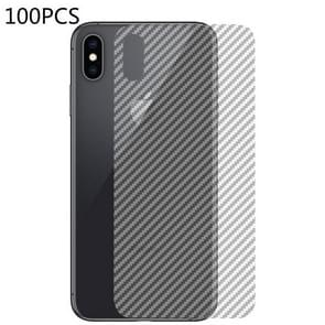 100 PCS Carbon Fiber Material Skin Sticker Back Protective Film For iPhone XR