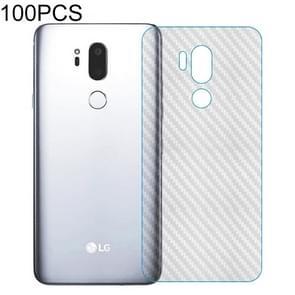 100 PCS Carbon Fiber Material Skin Sticker Back Protective Film For LG K9 (2018)