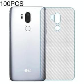 100 PCS Carbon Fiber Material Skin Sticker Back Protective Film For LG K8 (2018)