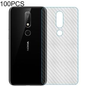 100 PCS Carbon Fiber Material Skin Sticker Back Protective Film For Nokia N3