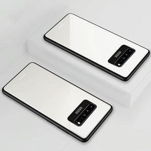 Lycra Series Eye Protection TPU Acrylic Protection Case for Galaxy S10 5G(White)