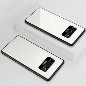 Lycra Series Eye Protection TPU Acrylic Protection Case for Galaxy S10+(White)