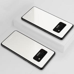 Lycra Series Eye Protection TPU Acrylic Protection Case for Galaxy S10e(White)