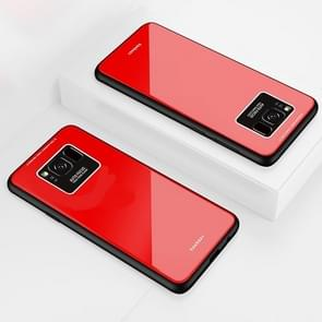 Lycra Series Eye Protection TPU Acrylic Protection Case for Galaxy S8(Red)