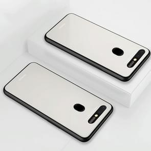 Lycra Series Eye Protection TPU Acrylic Protection Case for OPPO R15(White)