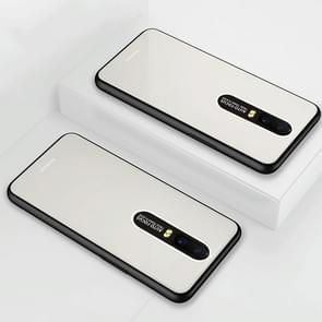 Lycra Series Eye Protection TPU Acrylic Protection Case for OPPO R17(White)