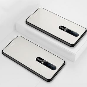 Lycra Series Eye Protection TPU Acrylic Protection Case for OPPO R17 Pro(White)