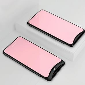 Lycra Series Eye Protection TPU Acrylic Protection Case for OPPO Find x(Pink)