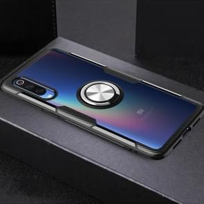 Shockproof Transparent Protective Case with 360 Degree Magnetic Rotation Holder For Xiaomi Mi 9(Silver+Black)