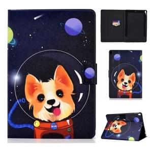 Colored Drawing Universal Voltage Craft Cloth TPU Protective Case, with Holder & Sleep / Wake-up Function & Card Slots & Anti-slip Strip for iPad Pro 10.5 Inch / iPad Air (2019)(Dog)