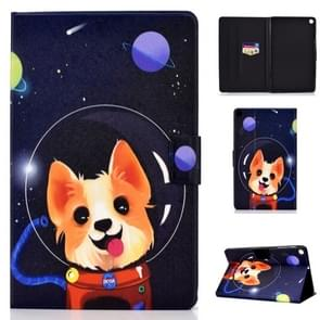 Colored Drawing Universal Voltage Craft Cloth TPU Protective Case, with Holder & Sleep / Wake-up Function & Card Slots & Anti-slip Strip for Galaxy Tab A 10.1 (2019) T510 / T515(Dog)
