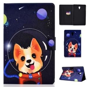 Colored Drawing Universal Voltage Craft Cloth TPU Protective Case, with Holder & Sleep / Wake-up Function & Card Slots & Anti-slip Strip for Galaxy Tab A 10.5 T590 / T595(Dog)