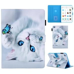 Universal 3D Pattern Horizontal Flip Leather Case with Holder & Card Slot & Wallet for ipad 10.5(Cat)