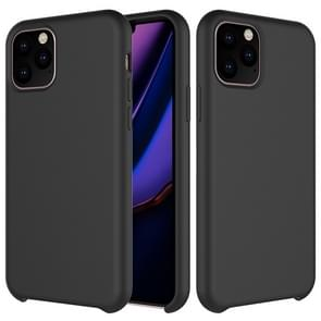 Solid Color Liquid Silicone Shockproof Case For iPhone 11 Pro(Black)