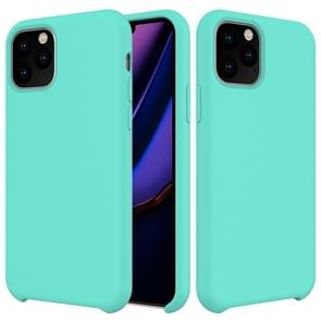 Solid Color Liquid Silicone Shockproof Case For iPhone XI 2019(Baby Blue)