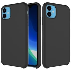 Effen kleur Liquid silicone schokbestendig Case voor iPhone XIR 2019 (zwart)