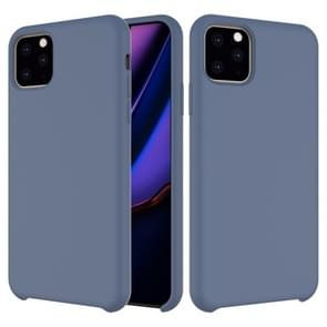 Solid Color Liquid Silicone Shockproof Case For iPhone XI Max 2019(Dark Blue)