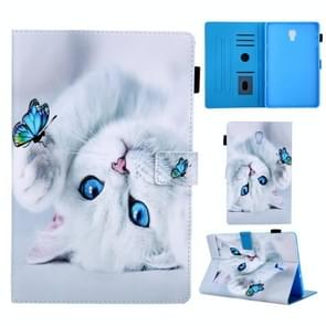 Universal 3D Pattern Horizontal Flip Leather Case with Holder & Card Slot & Wallet for Galaxy Tab 10.5 SM-T590 & SM-T595(Cat)