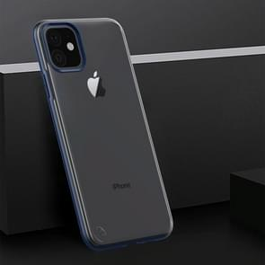 Shockproof Frosted PC+ TPU Transparent Protective Case For iPhone 11(Navy Blue)