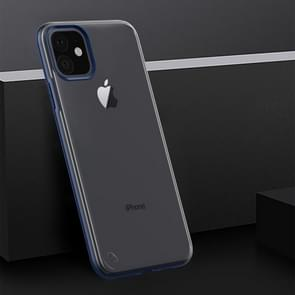 Shockproof Frosted PC+ TPU Transparent Protective Case For iPhone XI Max (2019)(Navy Blue)