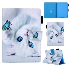 Universal 3D Pattern Horizontal Flip Leather Case with Holder & Card Slot & Wallet for Amazon Kindle Paperwhite 4(Cat)