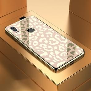 Leopard Pattern Electroplating Soft Frame Plexiglass Mirror Protective Case For Vivo NEX(Champagne Gold)
