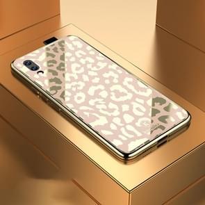 Leopard Pattern Electroplating Soft Frame Plexiglass Mirror Protective Case For Vivo NEX Ultimate(Champagne Gold)