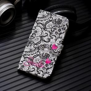 3D-schilderij patroon gekleurde tekening horizontale Flip PU lederen draagtas met houder & kaartsleuven & portemonnee voor Huawei mate 20 Pro (Lace bloem)