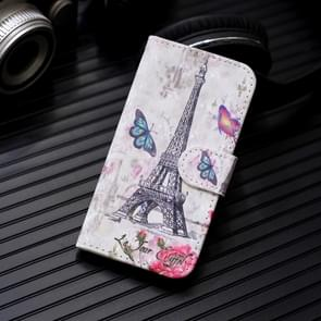 3D Painting Pattern Coloured Drawing Horizontal Flip PU Leather Case with Holder & Card Slots & Wallet For Galaxy Note 10+ / Note 10 Pro(Eiffel Tower)