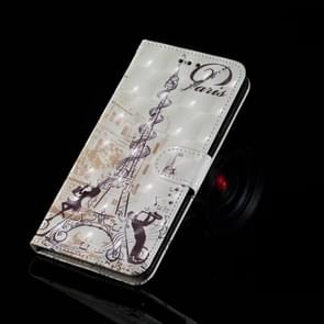 3D Painting Pattern Coloured Drawing Horizontal Flip PU Leather Case with Holder & Card Slots & Wallet For Galaxy Note 9(Eiffel Tower Couple)