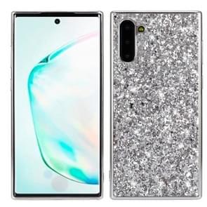 Plating glittery poeder schokbestendig TPU Case voor Galaxy Note 10 (zilver)