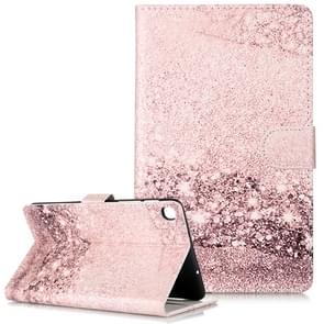 Colored Drawing Pattern Horizontal Flip PU Leather Case with Holder & Card Slots & Wallet For Galaxy Tab A 8.0 & S Pen (2019) / P205(Rose Gold  Marble )