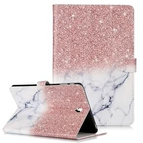 Colored Drawing Pattern Horizontal Flip PU Leather Case with Holder & Card Slots & Wallet For Galaxy Tab S4 10.5 / T830(Rose Gold White  Marble)