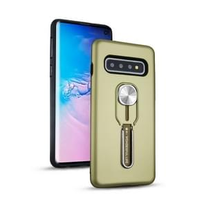 Shockproof TPU + PC Protective Case with Holder For Galaxy S10+ (Green)