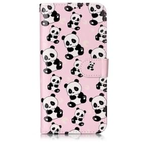Oil Embossed Coloured Drawing Pattern Horizontal Flip PU Leather Case with Holder & Card Slots & Wallet & Photo Frame For OnePlus 7(Pandas)