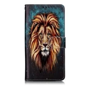 Oil Embossed Coloured Drawing Pattern Horizontal Flip PU Leather Case with Holder & Card Slots & Wallet & Photo Frame For Huawei P30 Lite(Lion)