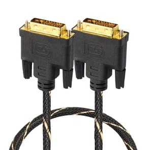 DVI 24 + 1 pin male naar DVI 24 + 1 pin Male grid adapter kabel (1M)