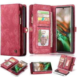 CaseMe-008 Detachable Multifunctional Horizontal Flip Leather Case with Card Slot & Holder & Zipper Wallet & Photo Frame for Galaxy Note 10 Pro(Red)
