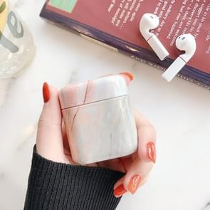 Marmer textuur PC plastic oortelefoon beschermende case voor Huawei Bluetooth koptelefoon (oranje)
