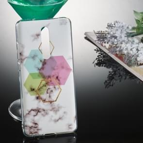 Coloured Drawing Pattern IMD Workmanship Soft TPU Protective Case For Xiaomi Mi 9T & Mi 9T Pro & Redmi K20 & Redmi K20 Pro(Hexagonal Marble)