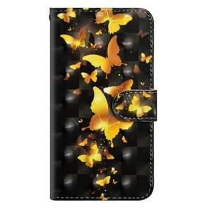 3D Painting Pattern Horizontal Flip TPU + PU Leather Case with Holder & Card Slots & Wallet For Huawei P30(Golden Butterfly)