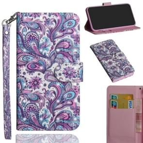 3D Painting Pattern Horizontal Flip TPU + PU Leather Case with Holder & Card Slots & Wallet For Huawei Mate 20(Spiral Pattern)