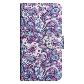 3D Painting Pattern Horizontal Flip TPU + PU Leather Case with Holder & Card Slots & Wallet For OnePlus 6(Spiral Pattern)