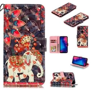 3D Painted Pattern Horizontal Flip Leather Case with Holder & Card Slot & Wallet & Photo Frame & Lanyard For Xiaomi Redmi Note 7(Phoenix Elephant)