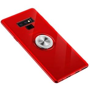 Ultra-thin TPU Protective Case with 360 Degree Rotation Holder for Galaxy Note 9(Red)