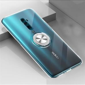 Ultra-thin TPU Protective Case with 360 Degree Rotation Holder for OPPO Reno 10x Zoom(Transparent)